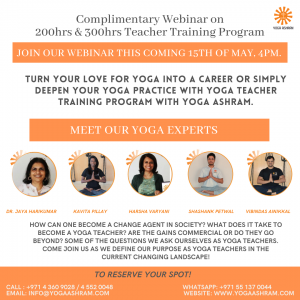 teachers training Yoga Ashram
