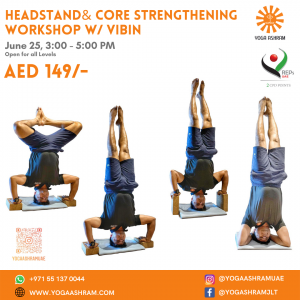 Inversion & Core strengthening Workshop w Vibin Yoga Ashram